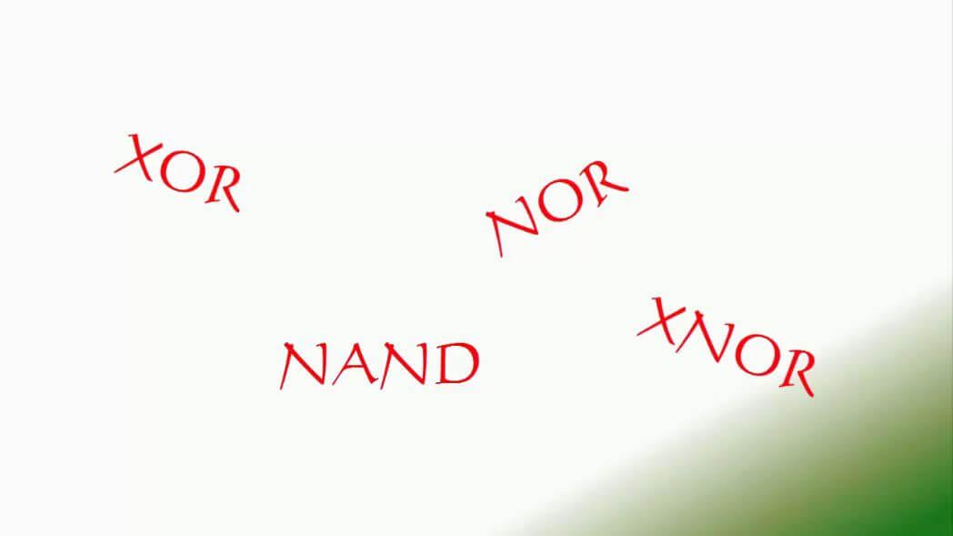 XOR NOR NAND XNOR Gatter