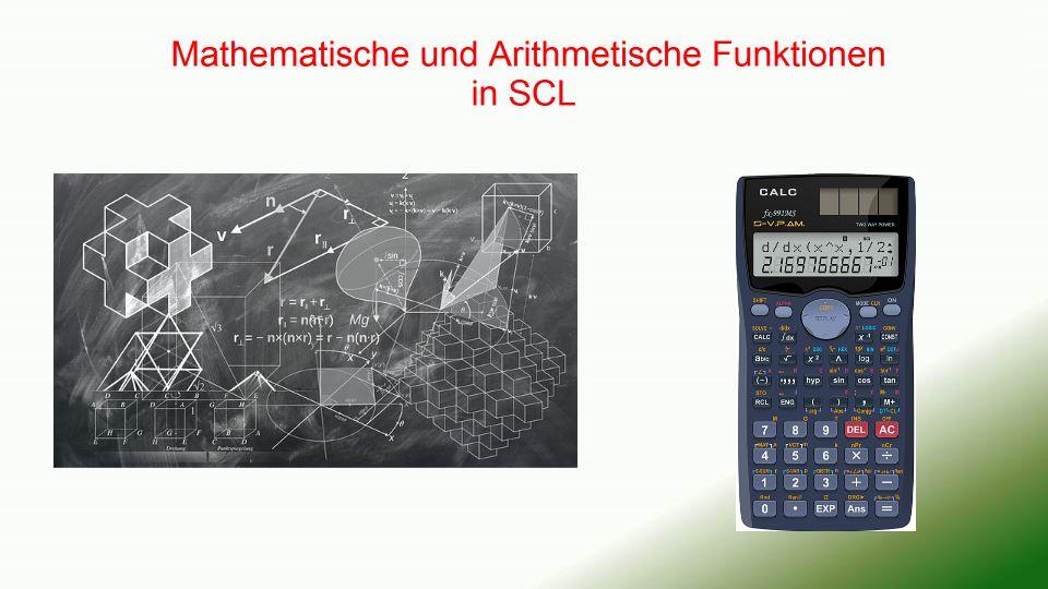 Mathematische und Arithmetische Funktionen