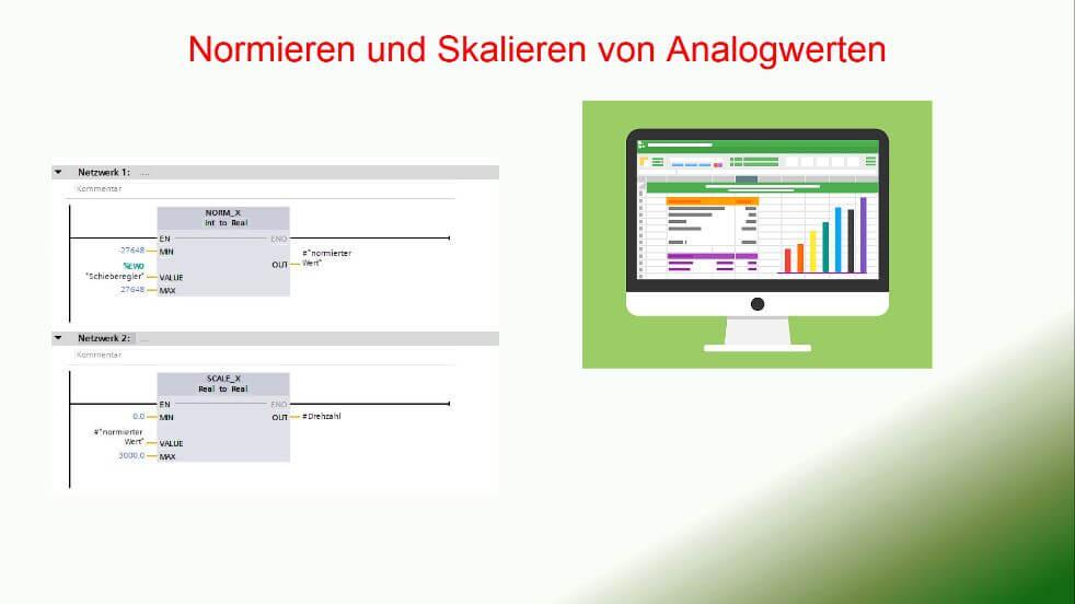Normieren und skalieren von Analogwerten TIA Portal